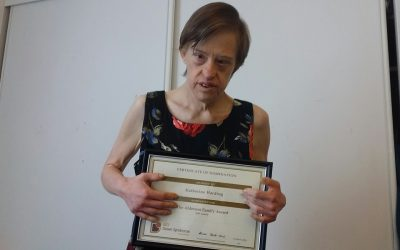 Kathy receives 'Alderson Family Award'