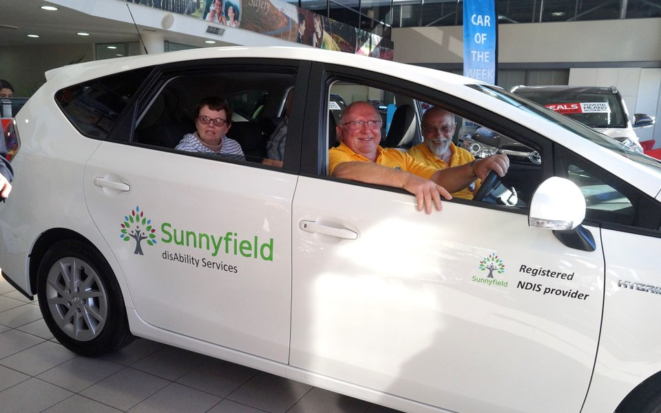 Lions Club members donate car to Sunnyfield